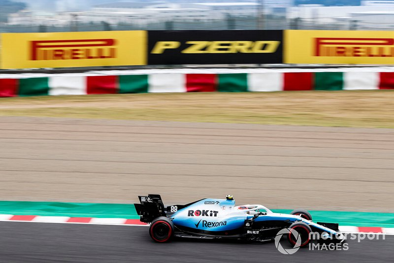 Robert Kubica, Williams FW42 (trening 1)