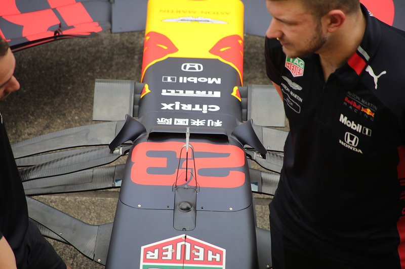 Avant de la Red Bull Racing RB15
