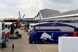 Toro Rosso freight in the paddock