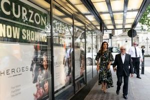 Bernie Ecclestone and his wife Fabiana