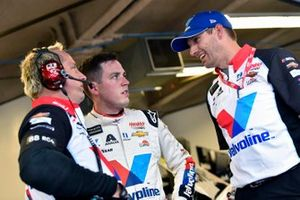 Alex Bowman, Hendrick Motorsports, Chevrolet Camaro Valvoline Patriotic and Greg Ives