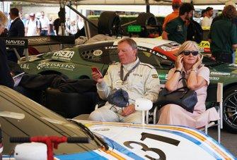 Ray Mallock in front of the Aston Martin Nimrod