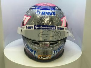 New helmet of Sergio Perez, Racing Point