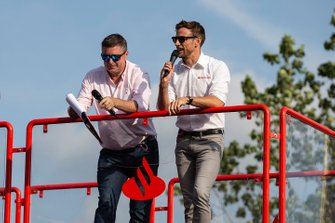Jenson Button, Sky TV and David Croft, Sky TV