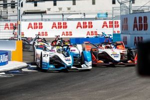 Alexander Sims, BMW I Andretti Motorsports, BMW iFE.18 Pascal Wehrlein, Mahindra Racing, M5 Electro, Daniel Abt, Audi Sport ABT Schaeffler, Audi e-tron FE05