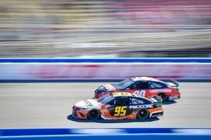 Matt DiBenedetto, Leavine Family Racing, Toyota Camry Procore, Erik Jones, Joe Gibbs Racing, Toyota Camry Craftsman