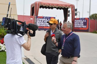 Lando Norris, McLaren, interviewé par Johnny Herbert, Sky Sports F1