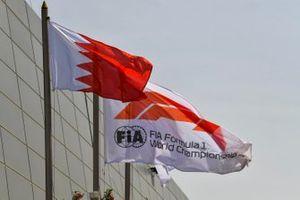 Флаги Ф1 и Бахрейна