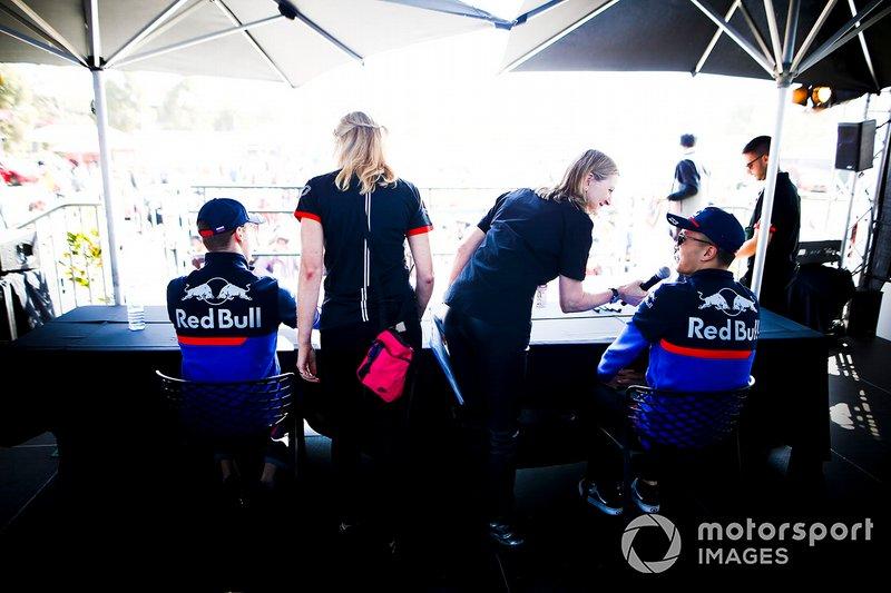 Daniil Kvyat, Toro Rosso ve Alexander Albon, Toro Rosso