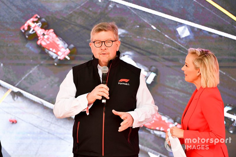 Ross Brawn, Managing Director del Motorsport, FOM, all'evento a Federation Square
