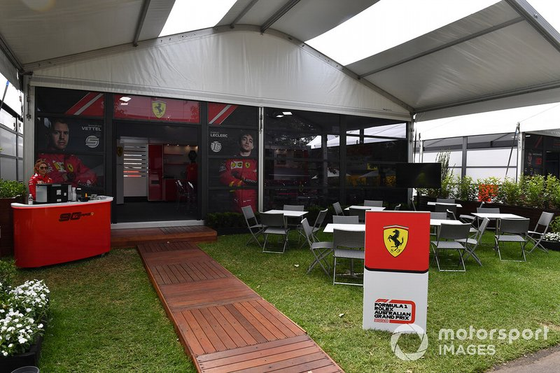 The Ferrari hospitality area