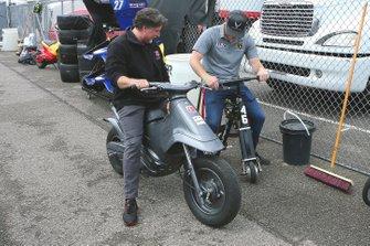 Conor Daly and Michael Andretti compare scooters