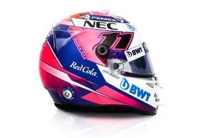 2019 helmet of Sergio Perez