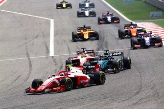 Sean Gelael, PREMA RACING, Sergio Sette Camara, DAMS and Mick Schumacher, PREMA RACING