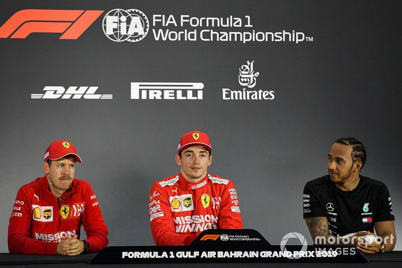 Os três primeiros colocados na coletiva de imprensa após a classificação