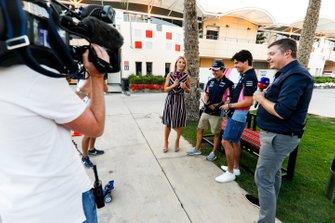 Rachel Brooks, Sky TV, Sergio Perez, Racing Point, Lance Stroll, Racing Point et David Croft, Sky TV