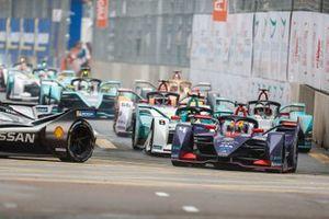 Robin Frijns, Envision Virgin Racing, Audi e-tron FE05 Tom Dillmann, NIO Formula E Team, NIO Sport 004, Mitch Evans, Panasonic Jaguar Racing, Jaguar I-Type 3