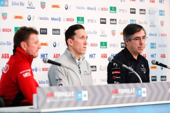 Mark Preston, Team Principal, DS TECHEETAH in the press conference with James Barclay, Team Director, Panasonic Jaguar Racing, Allan McNish, Team Principal, Audi Sport Abt Schaeffler