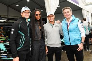 Model Naomi Campbell meets Alejandro Agag, CEO, Formula E, Mitch Evans, Panasonic Jaguar Racing, Jaguar I-Type 3, Nelson Piquet Jr., Panasonic Jaguar Racing, Jaguar I-Type 3