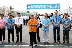 Alejandro Agag, CEO, Formula E, Jean Todt, FIA President, important guests at the front of the grid
