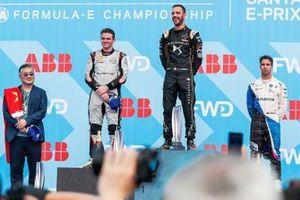 Podium: race winnerJean-Eric Vergne, DS TECHEETAH, second place Oliver Rowland, Nissan e.Dams, third place Antonio Felix da Costa, BMW I Andretti Motorsports