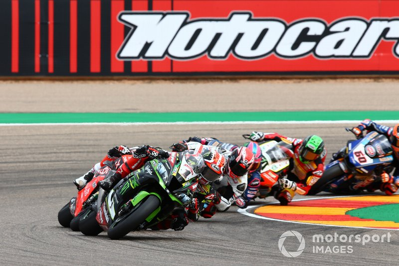 Jonathan Rea, Kawasaki Racing, Chaz Davies, Aruba.it Racing-Ducati Team, Tom Sykes, BMW Motorrad WorldSBK Team
