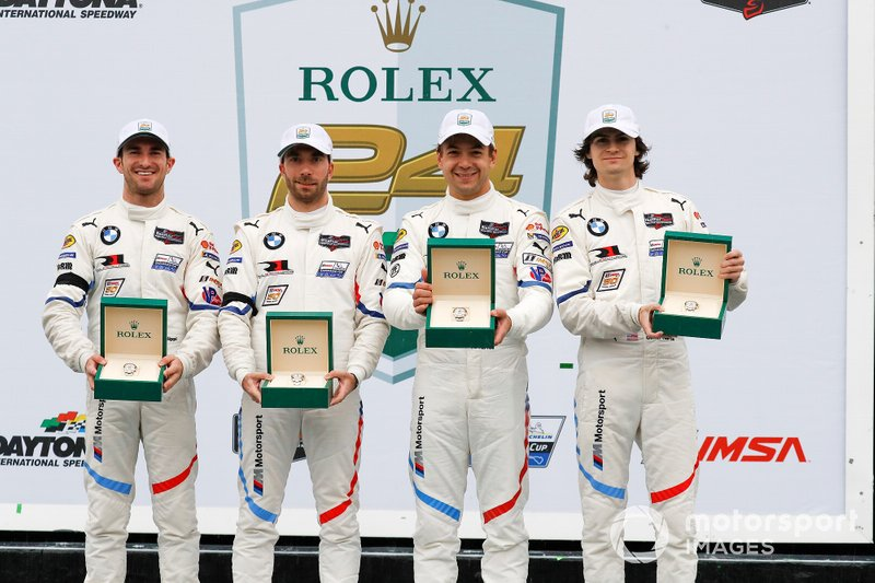 #25 BMW Team RLL BMW M8 GTE, GTLM: Augusto Farfus, Connor De Phillippi, Philipp Eng, Colton Herta, podium