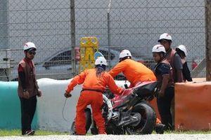 Мотоцикл Ducati Desmosedici GP19 Данило Петруччи после аварии