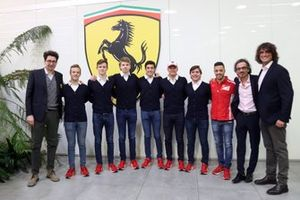 Mattia Binotto, Laurent Mekies, and Marco Matassa welcomed Ferrari Driver Academy students