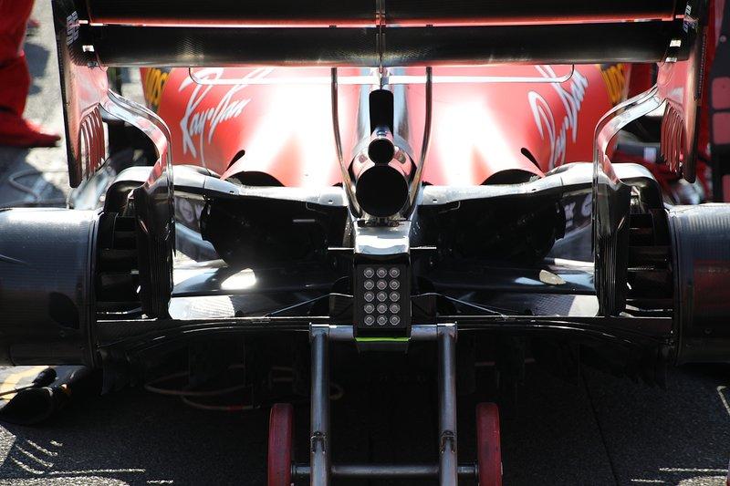 Ferrari SF90, dettaglio del diffusore