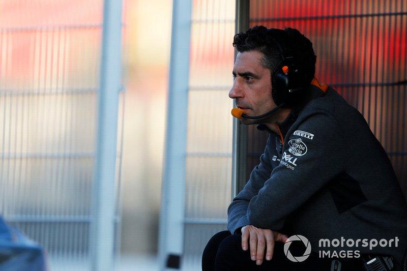 Инженер McLaren Андреа Стелла