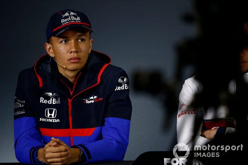 Alexander Albon, Toro Rosso in Press Conference