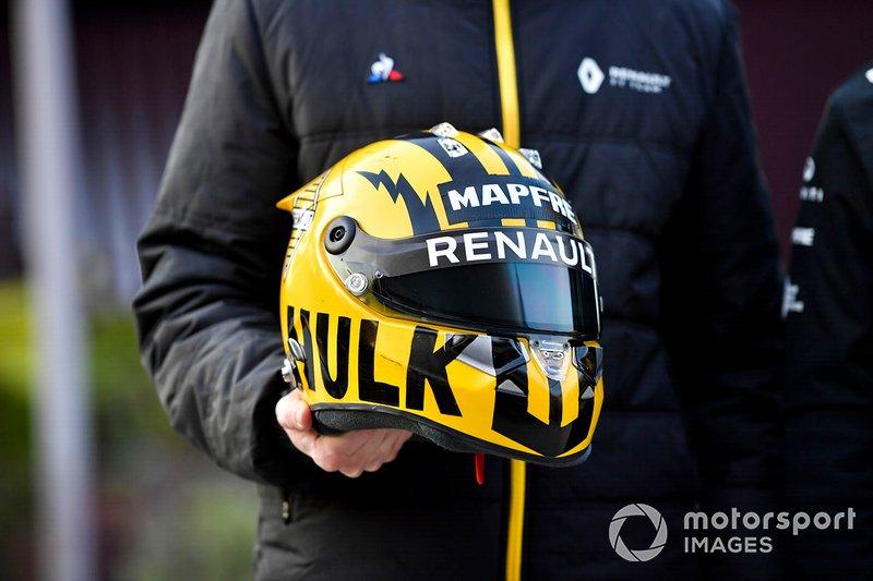 Nico Hulkenberg, kask tasarımı, Renault F1 Team