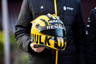 The helmet of Nico Hulkenberg, Renault F1 Team