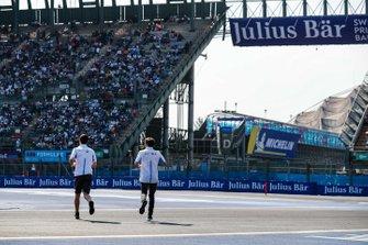 Alexander Sims BMW I Andretti Motorsports e Antonio Felix da Costa, BMW I Andretti Motorsports alla presentazione dei piloti
