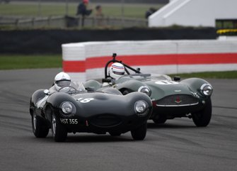 Peter Collins Trophy, John Pearson Jaguar D Simon Hadfield Aston DB3S