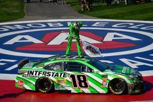 Kyle Busch, Joe Gibbs Racing, Toyota Camry Interstate Batteries celebrates after winning