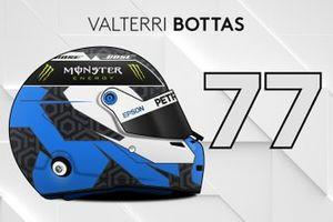El casco 2019 de Valtteri Bottas