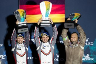 Podio GTLM: Winner #91 Porsche GT Team Porsche 911 RSR: Richard Lietz, Gianmaria Bruni