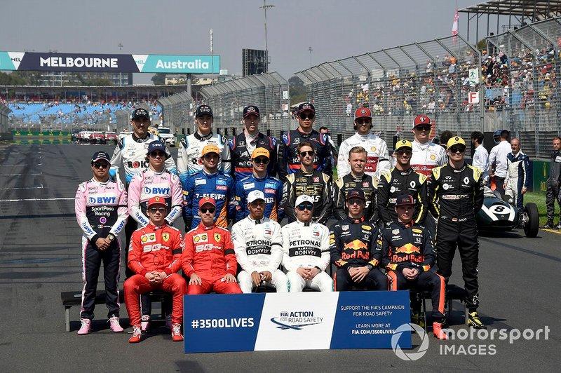 La foto de los pilotos 2019