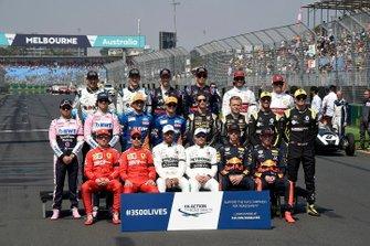 The 2019 F1 drivers photo call