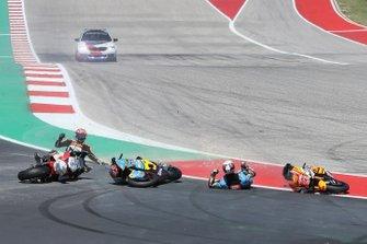 Xavi Vierge, Marc VDS Racing, Fabio Di Giannantonio, Speed Up Racing crash