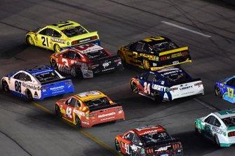 Alex Bowman, Hendrick Motorsports, Chevrolet Camaro Nationwide and Paul Menard, Wood Brothers Racing, Ford Mustang Menards / Maytag