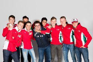 René Rosin, Team Manager, con i piloti del Team PREMA