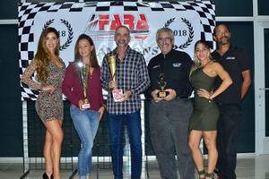 David Tuaty accepts the FARA MP1A Enduro Championship for his team