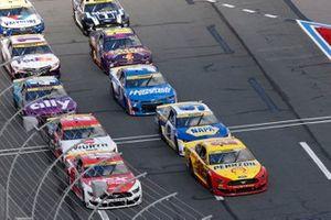 Ryan Blaney, Team Penske, Ford Mustang DEX Imaging, Joey Logano, Team Penske, Ford Mustang Shell Pennzoil