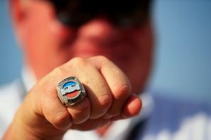 The Indycar Champion ring of Chip Ganassi, Owner and CEO, Chip Ganassi Racing Teams