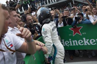 Valtteri Bottas, Mercedes AMG F1 celebrates in Parc Ferme