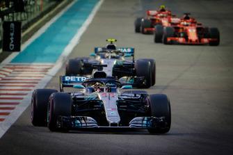 Lewis Hamilton, Mercedes AMG F1, Valteri Bottas, Mercedes AMG F1, Sebastian Vettel, Ferrari, Kimi Raikkonen, Ferrari