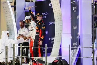 Max Verstappen, Red Bull Racing, op het podium